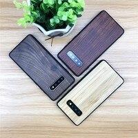 Caso de telefone para samsung galaxy note 9 8 10 plus capa de luxo de madeira + silicone capa para s20 ultra s10e s10 s9 s8 mais s7 borda