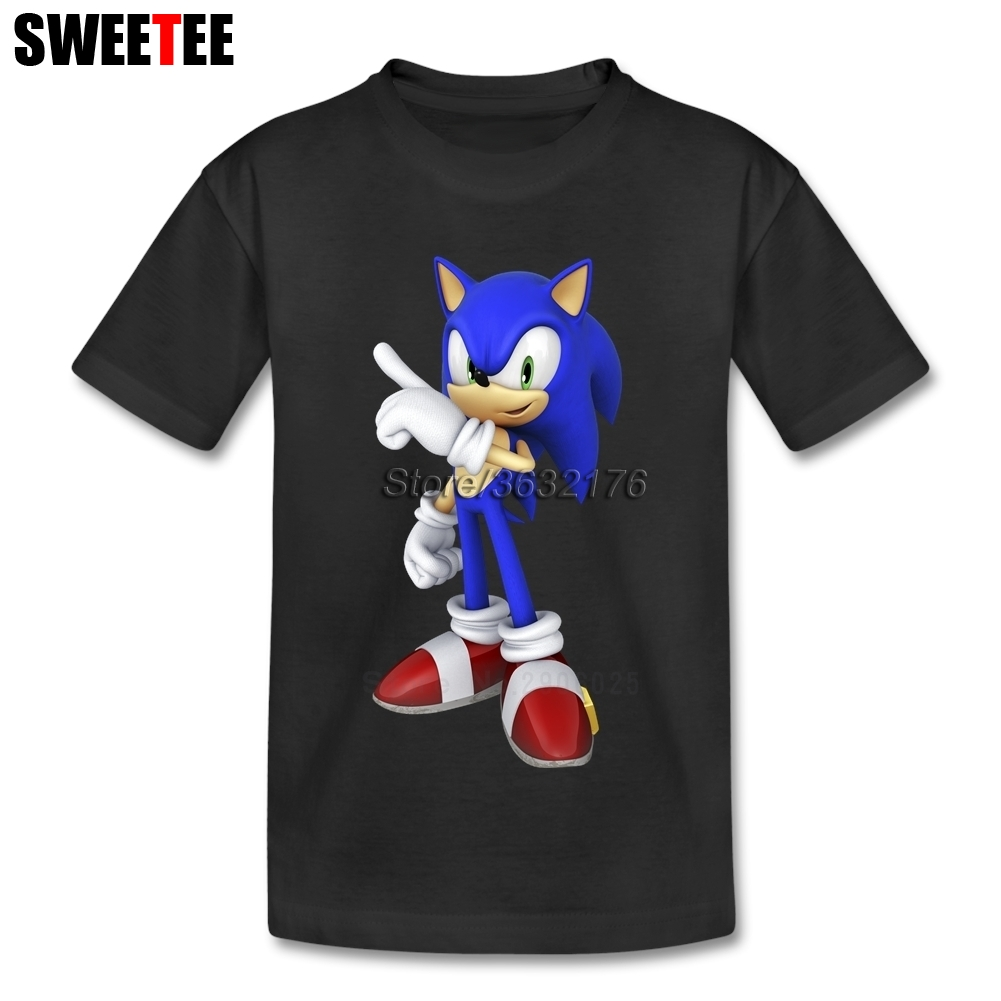 Sonic The Hedgehog Boy Girl T Shirt Short Sleeve Pure Cotton Baby O Neck Tshirt children's Clothes 2018 Kid T-shirt For Toddler