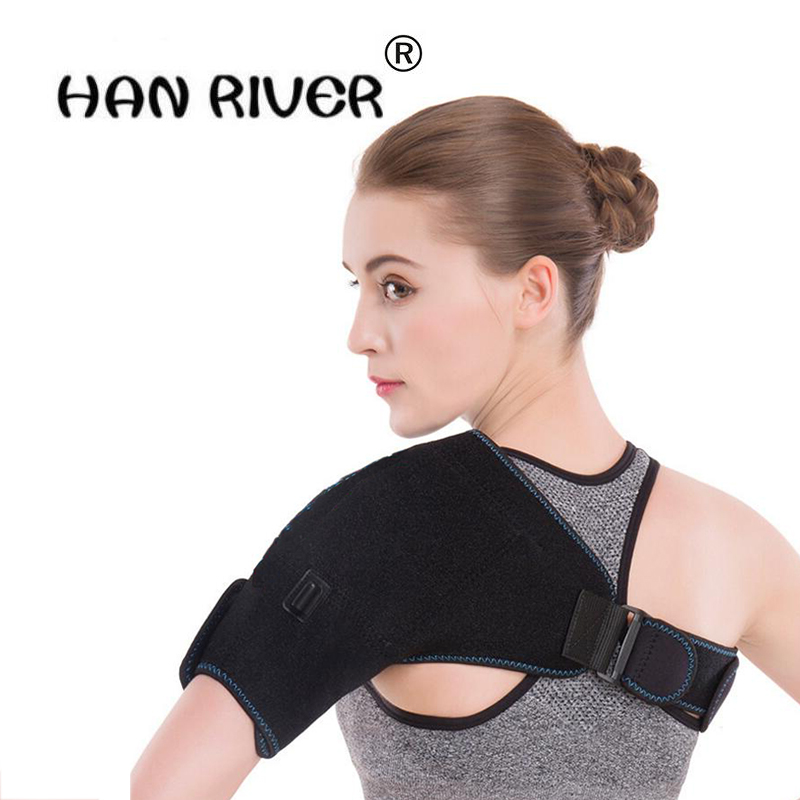 Electric heating Shoulder Pain Relief Health Products Far infrared hot compress middle-aged men/women shoulders keep warm tools pop relax tourmaline health products prostate massager for men pain relief 3 balls germanium stone far infrared therapy heater