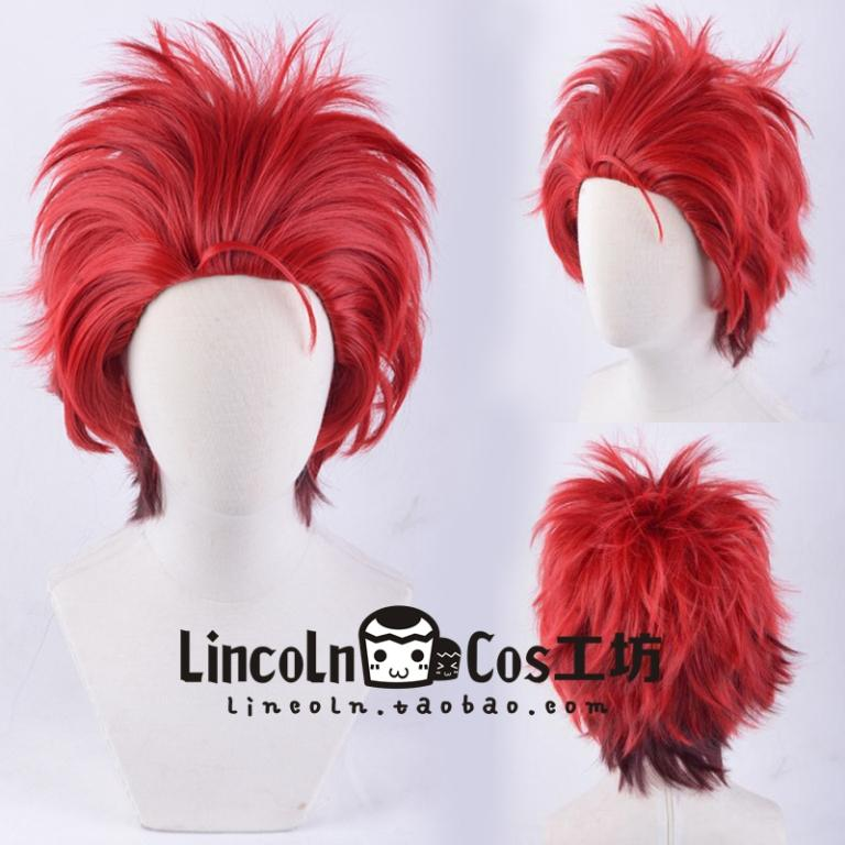 Ensemble Stars Switch SAKASAKI NATSUME Cosplay wig costume red colour