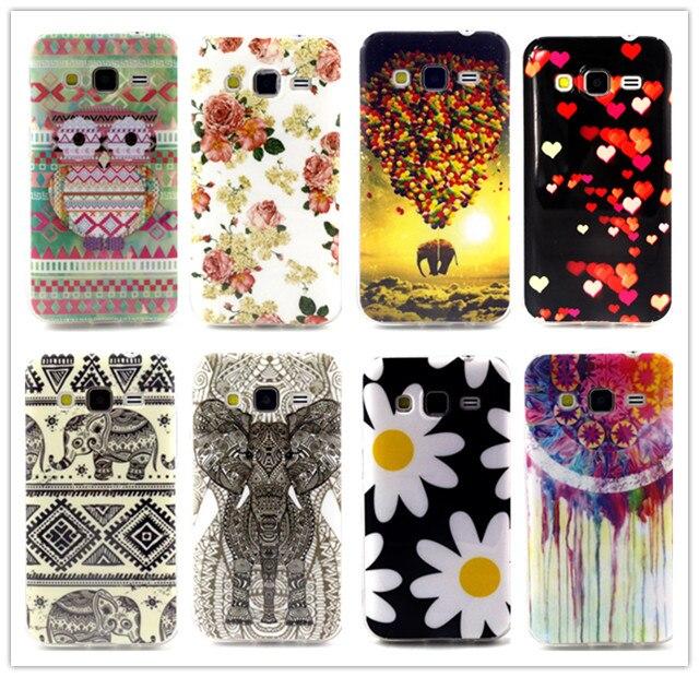the best attitude d45a9 b1fbc US $1.75 |For Samsung Galaxy Core Prime G360 G3606 G3608 TPU Back Cover  Soft Case Fashion Cartoon Flowers Design Case Cover D1423 A on  Aliexpress.com ...