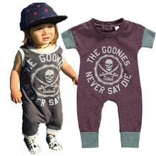 Baby Infant 2019 Summer Rompers Kids Fashion Pirate Boy Girl Jumpsuit Happy Birthday Party Kids Children Clothes For 0-5Y Romper
