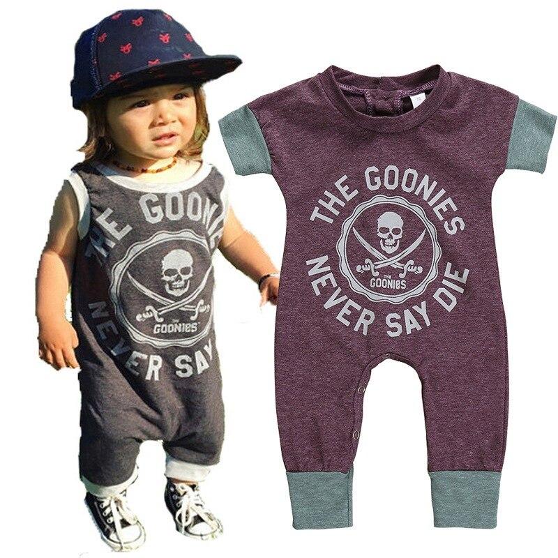 Bebé Infante 2019 verano mamelucos moda niños pirata niño niña mono Feliz cumpleaños fiesta niños ropa para 0-5Y Romper