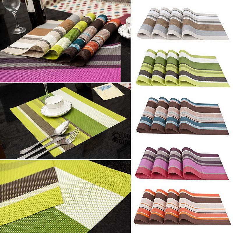4pcs Placemats Pvc Placemat Bar Mat Plate Mat Table Mat
