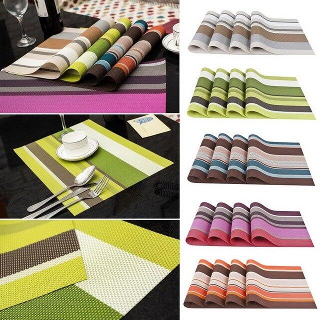 4pcs placemats pvc placemat bar mat plate mat table mat set kitchen hot pads 30 - Kitchen Hot Pads