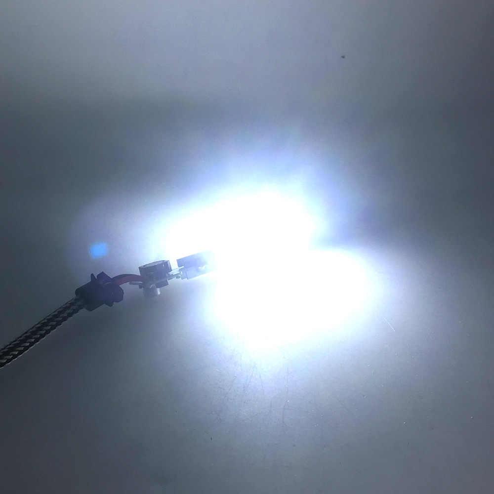 4 pcs/lot S2 voiture phare COB puce lumière LED Source pour bricolage S2 Auto phare H1 H3 H7 H4 haute feux de croisement ampoule 6500K blanc COB lampe