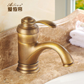 All copper faucet Antique Continental antique full basin tap single hole 100% bronze brass free shipping Bathroom Faucet bronze