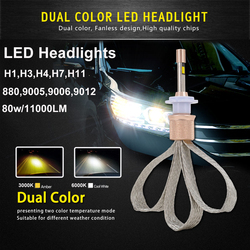 Auto led light dual color 880 9005 9006 9012 h1 h3 h4 h7 h11 car driving.jpg 250x250