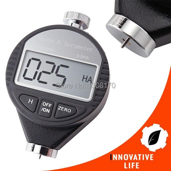 Shore A Digital Hardness Meter Tester Durometer 0~100HA Dial Scale Plastic Rubber Tire Tyre  цены