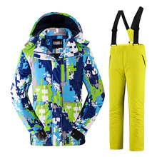 2016 New Outdoor waterproof windrpoof set skiing jacket and pants brand men's winter ski set snowboard suit men