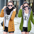 2016 spring Cashmere big size long section hooded jacket coat thicker plus size women coat and jacket women casual hoodie 4xl