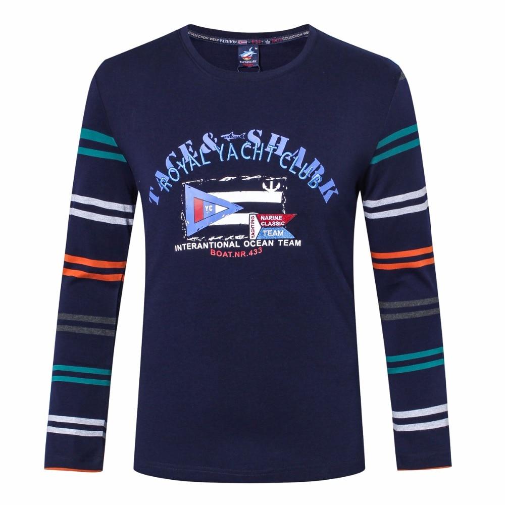 2017 осенне зимняя одежда мужская футболка с круглым вырезом в полоску с принтом брендовая одежда Повседневная хлопковая футболка с длинными рукавами Billionaire - 2
