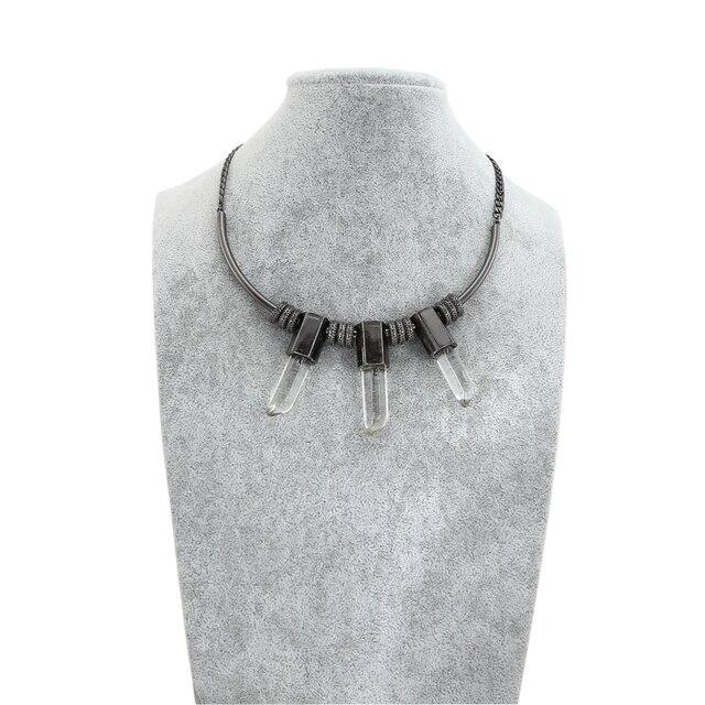 TrinketSea Luxury Women Cool Metal Black Choker Collar Necklaces Statement Fashion Jewelry Torque Chokers Luxury Trendy Jewelry