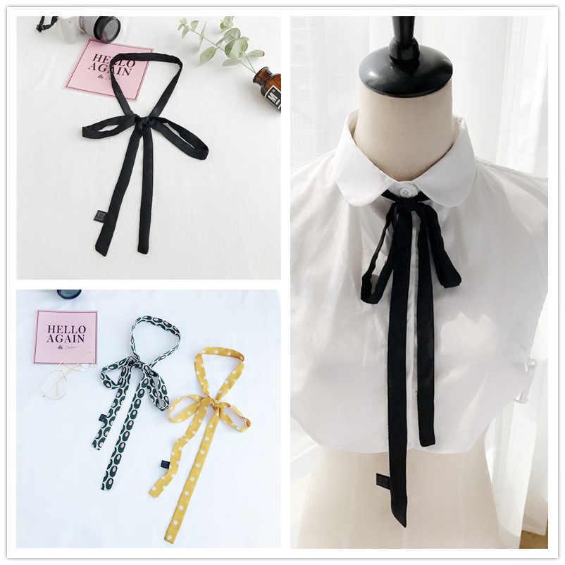 Cinturón de gasa decoración femenina 2019 nueva bufanda de Cinta Larga delgada bufanda negra coreana bufandas de marca de lujo chal