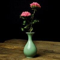 6 색 차 아름다움 최고의 선물 전통적인 중국어 Longquan의 녹색 도자기 탁상 꽃병 예약 Teaism Decroation