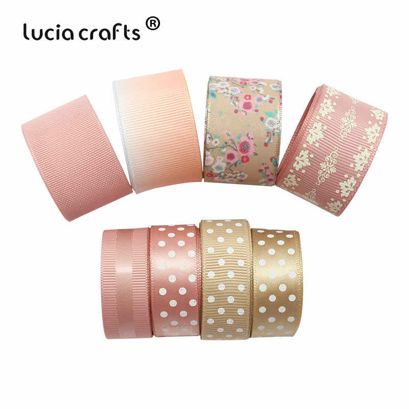 Lucia crafts 8yards Multi options Printed Grosgrain/Satin Ribbons Bow Craft DIY Sewing Handmade materials Accessories S0202