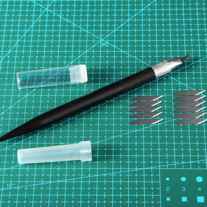 1 Pcs Metal Carving Utility Knife Student Non-Slip Craft Paper Cutter Pen Stationery School Art Cutting Supplies Tools 5