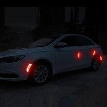 Pegatina de fibra de carbono 5D para coche, pegatinas súper reflectantes, calcomanías, tira de advertencia reflectante para coche, accesorios de automóviles con estilo