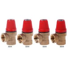 Brass Safety Valve Drain Relief Swithch For Solar Water Heater Double Inner Wire