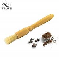 Ttlife escova de café moedor de café máquina de limpeza escova de madeira lidar com cerdas naturais pó de madeira escova de espresso mais limpo|Escovas para moedor| |  -