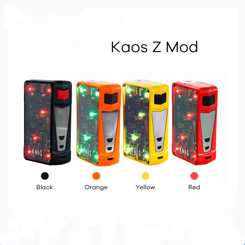 Vape Box Mod 200W TC Box superpower  2017 Newest Original Colorful LED e Electronic cigarette Kaos Z Vape Box Mod original yuntwo ice fresh cool orange vape juice for e cigarette