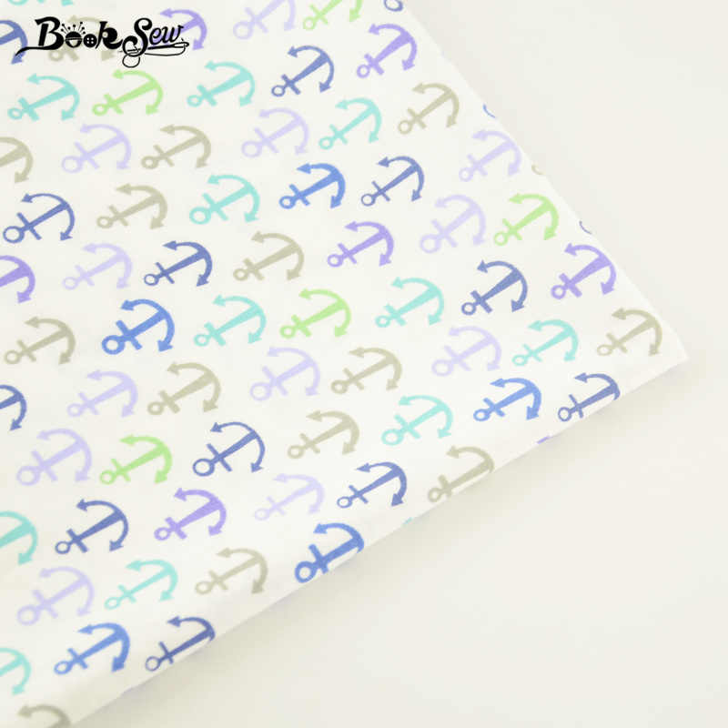 Booksew Sea Anchor Cotton Twill Fabric Bed Sheet Sewing Tela Quilting Tecido For Baby Bedding Set Dolls Crafts Home Textile