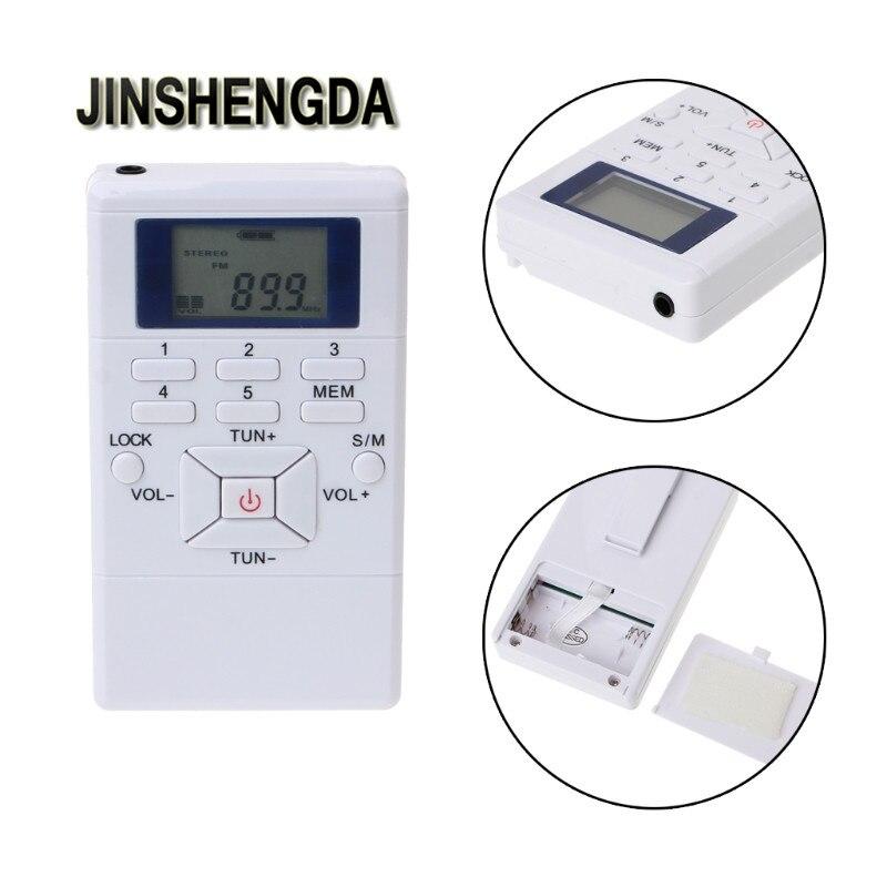 Jinshengda Radio Tragbare Lcd Digital Display Mini Fm Radio Receiver Mit Hals Seil In-ohr Kopfhörer Keine Kostenlosen Kosten Zu Irgendeinem Preis Unterhaltungselektronik