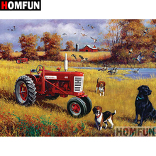 HOMFUN 5D DIY Diamond Painting Full Square/Round Drill Tractor scenery Embroidery Cross Stitch gift Home Decor Gift A09114 homfun 5d diy diamond painting full square round drill tractor scenery embroidery cross stitch gift home decor gift a09181