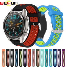 Breathable Silicone Sports Band For HUAWEI WATCH GT 22MM Strap Bracelet Belt Replacement Watch Samsung Gear S3