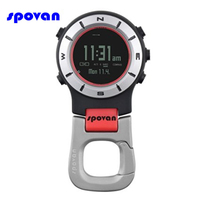 Spovan Outdoor Sports Handheld Watch Barometer Altimeter Thermometer Compass Thermometer Stopwatch Military Digital Pocket Watch
