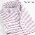 Vestidos New Autumn  Stripe 100% Cotton Men Casual Shirt imported clothing Slim Fit Male Shirt Long Sleeve  Asia Size XS-6XL