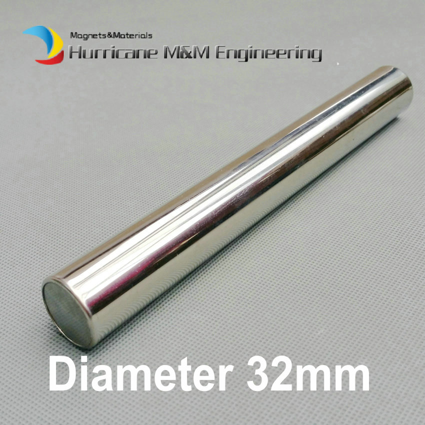 Dia. 32x300 mm NdFeB Magnetic Wand 6K-12K GS Cylinder Filter Strong Neodymium Magnet Stainless Steel 304 Sanitary Iron Removal magnetic toy set ndfeb magnet rods iron balls multiple color cylinder spheres construction stress release kit drop shipping