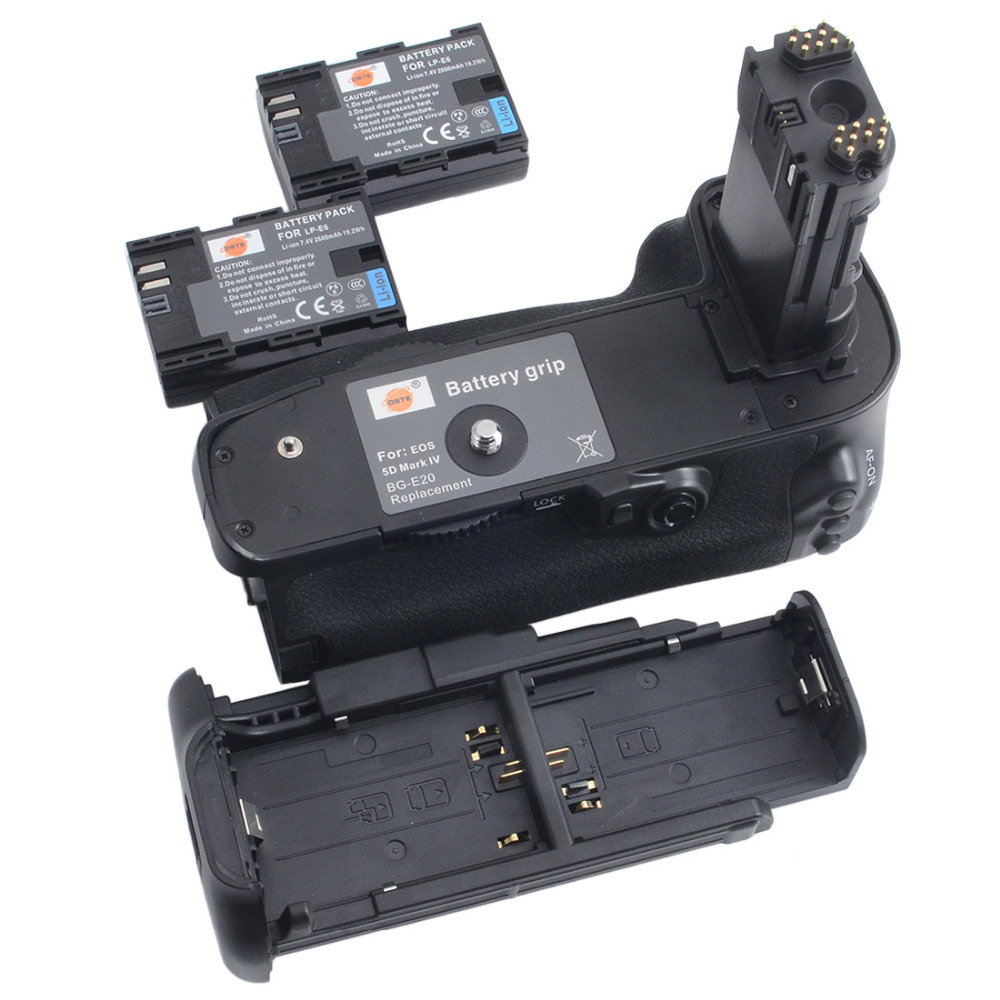 ФОТО DSTE BG-E20 Battery Grip + 2pcs LP-E6 battery For CANON EOS  5Dmak IV Digital Camera