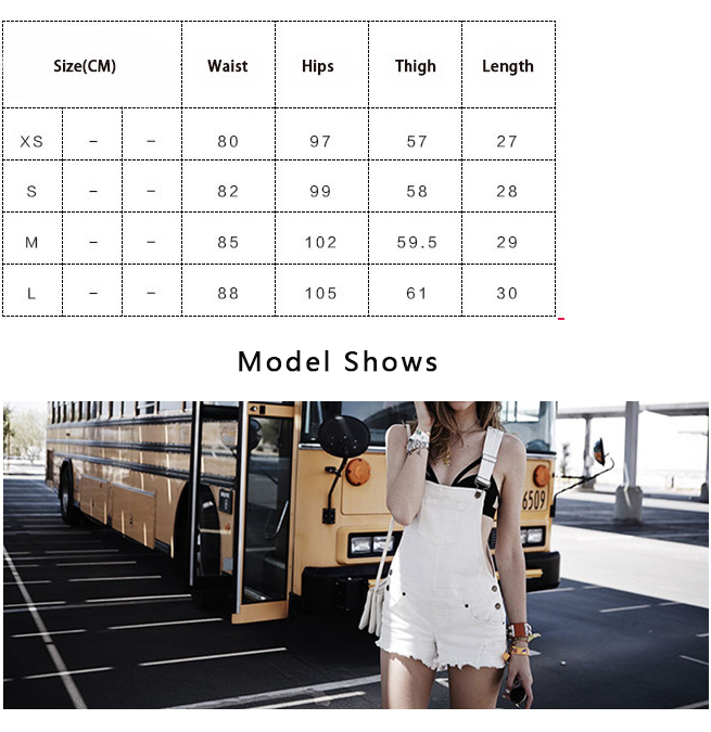 HCYO Hot Fashion Clothes Women Cotton Denim Playsuits White Loose Overalls Back Hole Rompers Loose Casual Female Short Tracksuit (1)