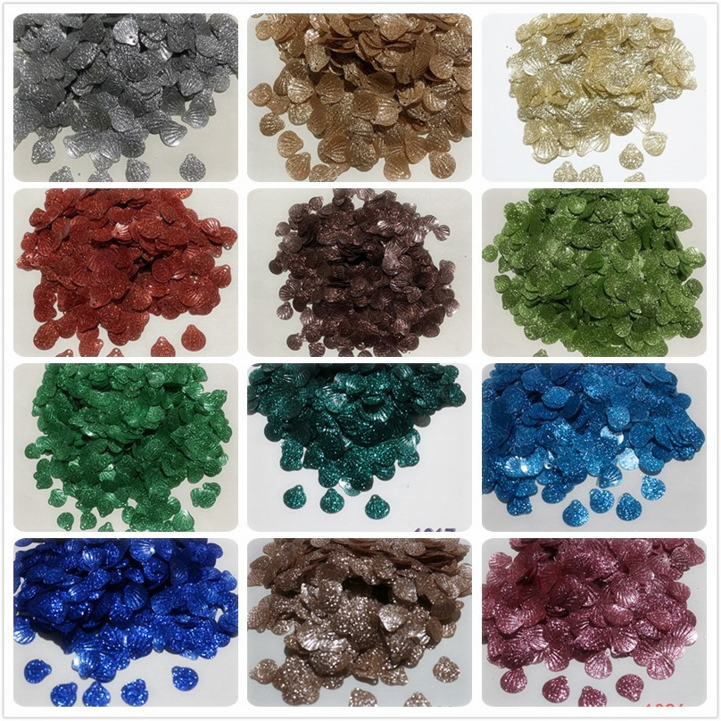 1000pcs shell powder sequins beads diy manual flat bead pieces kindergarten stage clothing accessories 13mm shell in Beads from Jewelry Accessories