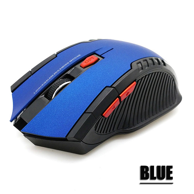 Mouse Wireless da 2.4GHz con ricevitore USB Gamer Mouse da 2000DPI per Computer PC Laptop 4
