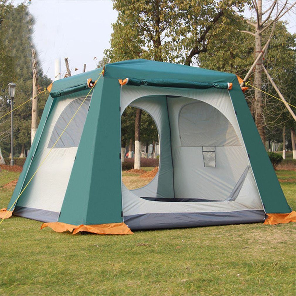 все цены на New 3-6 Persons Outdoor Fully Automatic Tent Rainproof Tent Double Layer Camping Hiking Fishing Backpacking Tent Drop Shipping онлайн