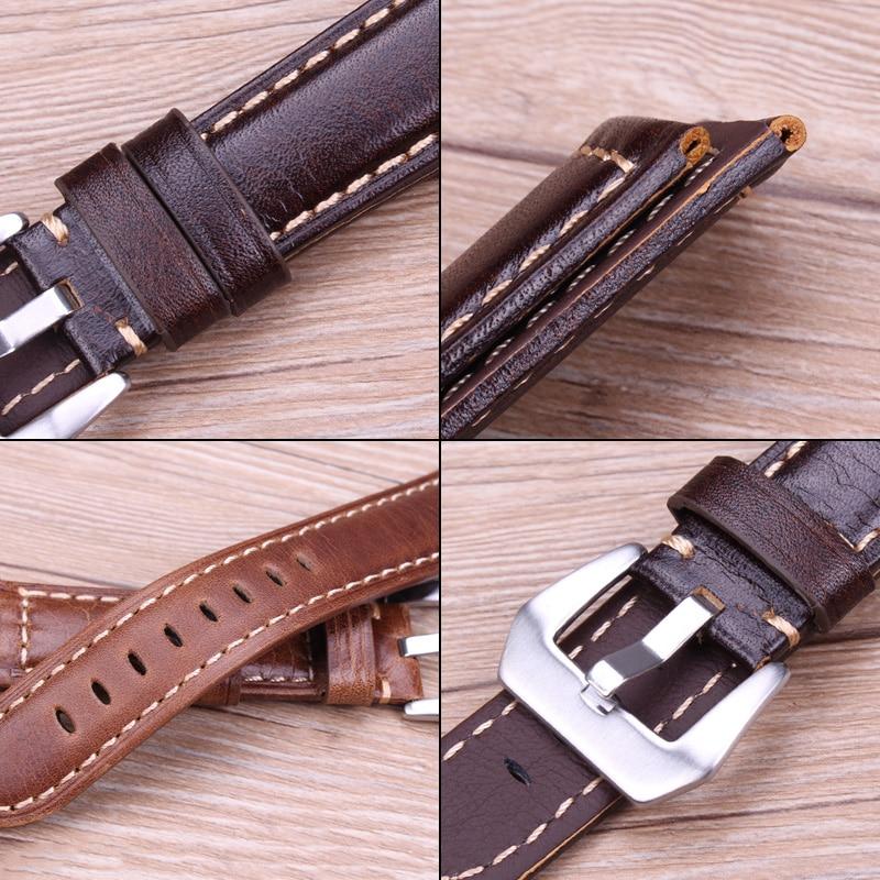 Чанти с ретро естествена кожа кафяви - Аксесоари за часовници - Снимка 3