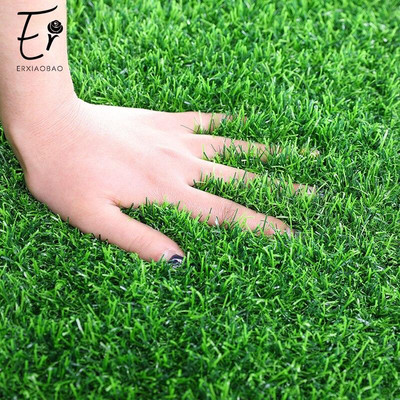 Erxiaobao 200*50 cm/78.7*19.6 polegadas de alta qualidade ao ar livre indoor gramado artificial fogo retardador falso grama jardim campo futebol