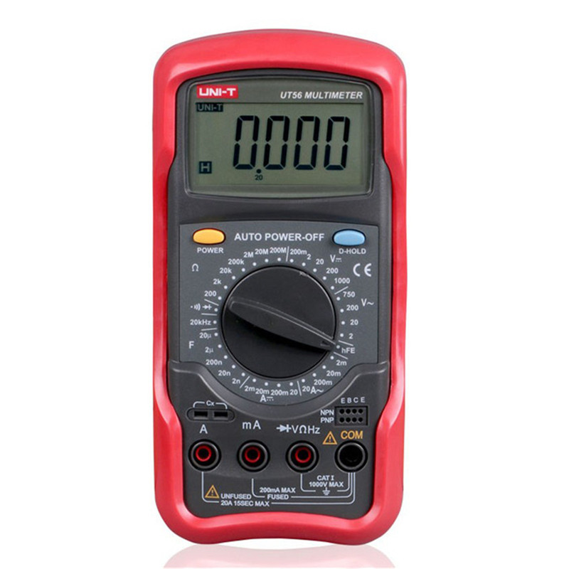 UNI-T UT56 Digital Multimeter True RMS Professional Manual Range 20000 Counts 20A 1000V Resistance Capacitance Frequency my68 handheld auto range digital multimeter dmm w capacitance frequency