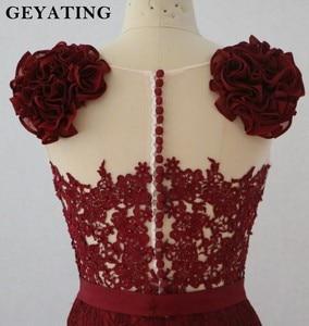 Image 4 - Blush różowa koronka suknie dla druhen o kroju syreny 2020 afrykańska sukienka na formalną imprezę na herbata ślubna długość wysoki niski suknie Maid of Honor