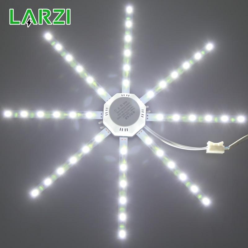 LED plafonnier pieuvre lumière 12W 16W 20W 24W lumière LED conseil 220V 5730SMD économie d'énergie espérance lampe à LED froid chaud blanc
