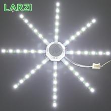 Lámpara LED de techo, luz tipo pulpo, 12W, 16W, 20W, 24W, placa de luz LED 220V, 5730SMD, ahorro de energía, blanco frío y cálido