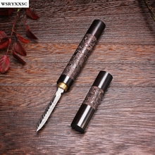 Dragon and Phoenix Pattern Stainless Knife,Ebony Wood,Puer Tea Knife,Tea Accessories(China)