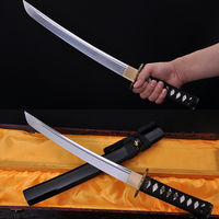 Samurai Japanese Short Sword Tanto Handmade Custom Blade Sharp 1060 High Carbon Steel Alloy Tsuba Real Rayskin Handle Knife Sale