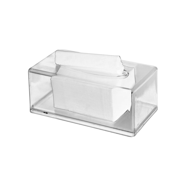 HOT SALE Acrylic Clear Tissue Box Cover Rectangular Napkin Car Office Paper  Holder Case