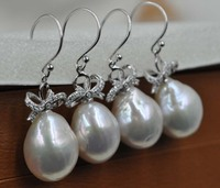 Wholesale 3 Pairs 12 5 14mm Baroque Drop Kasumi Pearl Dangle Earrings