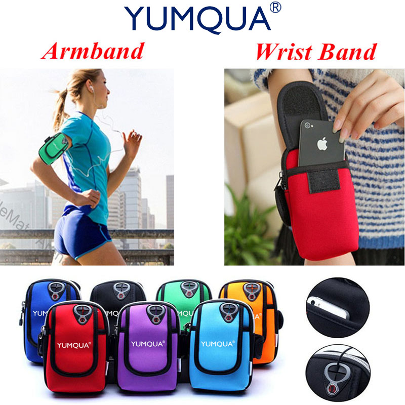 YUMQUA Waterproof Armband Case for iphone6 7 7Plus armband universal running jogging sport arm band wrist holder sports phone