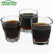 JANKNG wódki strzał szklany kubek Whisky szklanka Whiskey odporny na wysoką temperaturę szkła kryształowego Handwork najwyższej klasy przezroczysty kubek Dropshipping tanie tanio Szkło ROUND Lfgb Ce ue Zaopatrzony Ekologiczne WC280010 Kieliszek do wina Whisky Wine 200-300ml 250g 80 x 74 mm