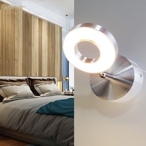 Image 4 - 5W Wall Light bedroom with switch in LED Selfie Ring Light Indoor wall Lapms For Makeup Home Hotel Bedside Reading Book Lights